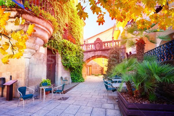 Barcelona luz solar tradicional arquitetura Espanha Foto stock © neirfy