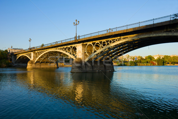 Triana Bridge, Seville, Spain Stock photo © neirfy