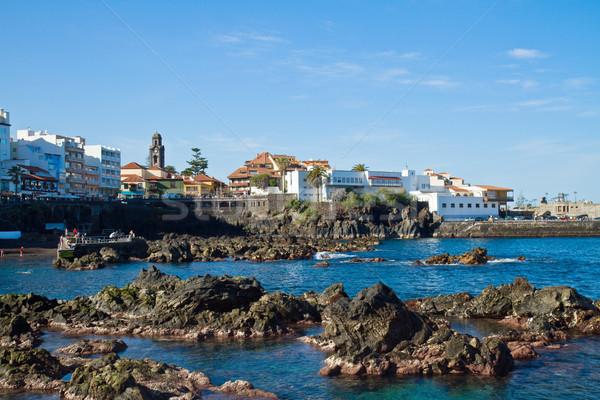 La tenerife oude binnenstad Spanje strand voorjaar Stockfoto © neirfy