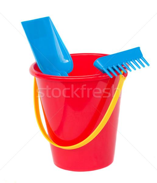 Beach bucket with spades Stock photo © neirfy