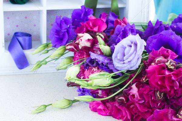 Mor leylak rengi çiçekler taze Stok fotoğraf © neirfy