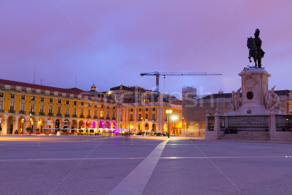 Commerce square  in Lisbon, Portugal Stock photo © neirfy