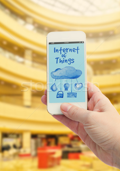 Mobiele winkelen virtueel winkel telefoon scherm Stockfoto © neirfy