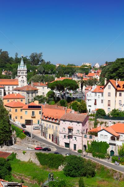 Oude binnenstad Portugal stad straat Stockfoto © neirfy