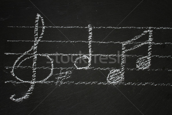Music notes on black Stock photo © neirfy
