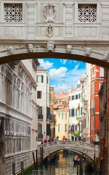ストックフォト: 橋 · ヴェネツィア · イタリア · 運河 · 旧市街 · 建物