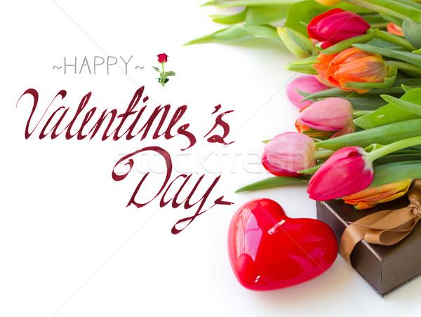 valentines day tulips Stock photo © neirfy