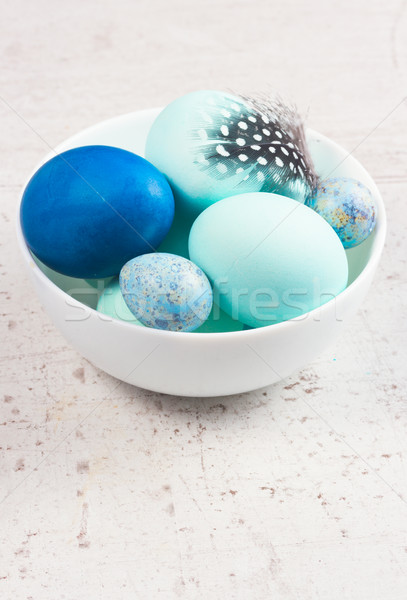 Plate with painted eggs Stock photo © neirfy