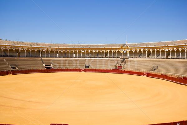 Aréna Spanyolország város sport utazás homok Stock fotó © neirfy