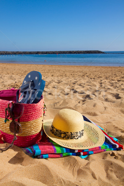 Zonnebaden zandstrand strand zon zee Stockfoto © neirfy