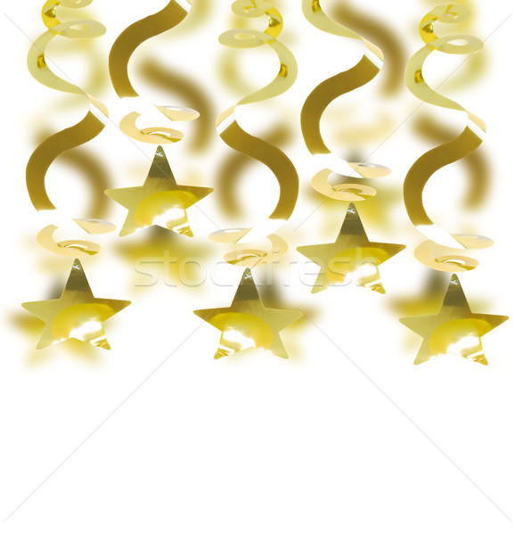 golden garland with star Stock photo © neirfy