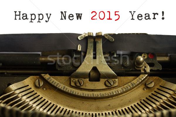 Foto stock: Feliz · ano · novo · máquina · de · escrever · feliz · novo · 2015 · ano