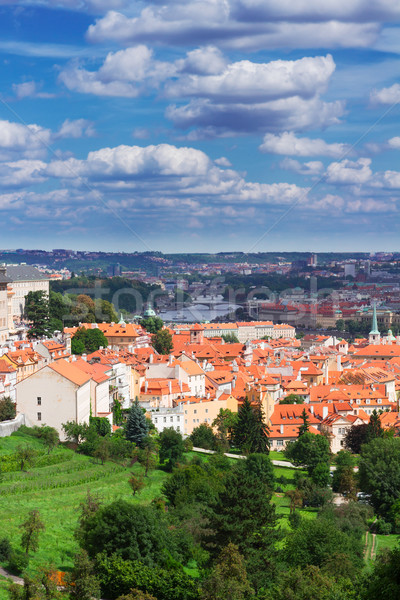 view of  Prague from Hradcany district Stock photo © neirfy