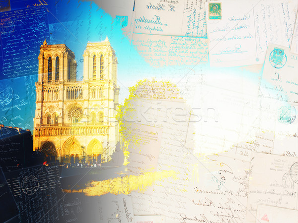 Notre Dame cathedral, Paris France Stock photo © neirfy