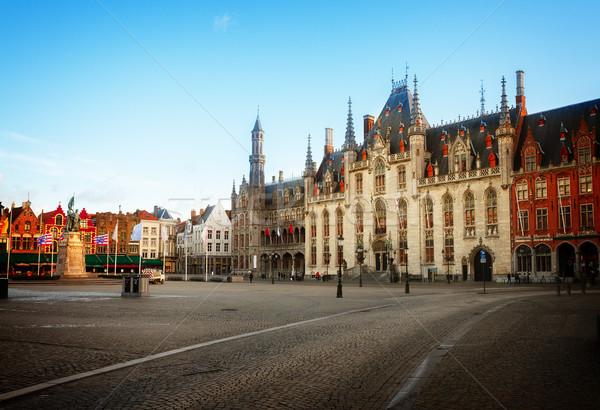 Сток-фото: рынке · квадратный · город · зале · старый · город · Бельгия