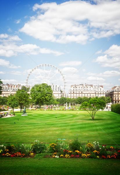 саду Париж лет день Франция ретро Сток-фото © neirfy