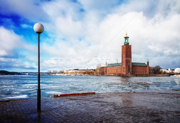 Sztokholm Szwecja miasta sali wcześnie wiosną Zdjęcia stock © neirfy