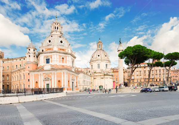 Róma Olaszország híres oszlop tájkép művészet Stock fotó © neirfy
