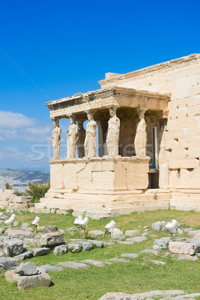 Stock photo: Erechtheion temple in Acropolis of Athens
