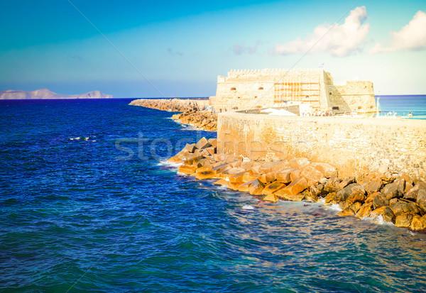 Porto Grécia velho veneziano forte céu Foto stock © neirfy