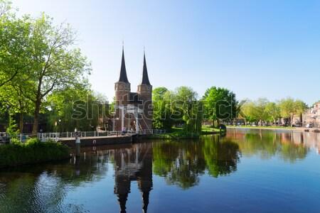 Klassiek oude Nederland poort typisch Stockfoto © neirfy