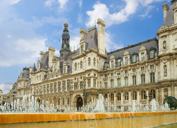 city hall of Paris, France Stock photo © neirfy