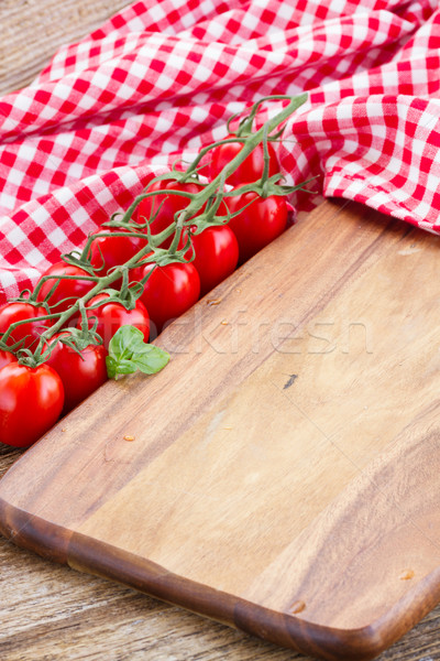 Vuota tagliere cucina italiana alimentare sfondo pane Foto d'archivio © neirfy