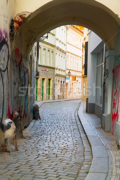 street in old town, Prague Stock photo © neirfy