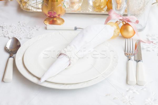 Christmas Tableware set Stock photo © neirfy