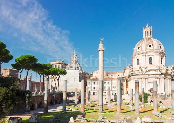 Forum romaine ruines Rome Italie colonne Photo stock © neirfy