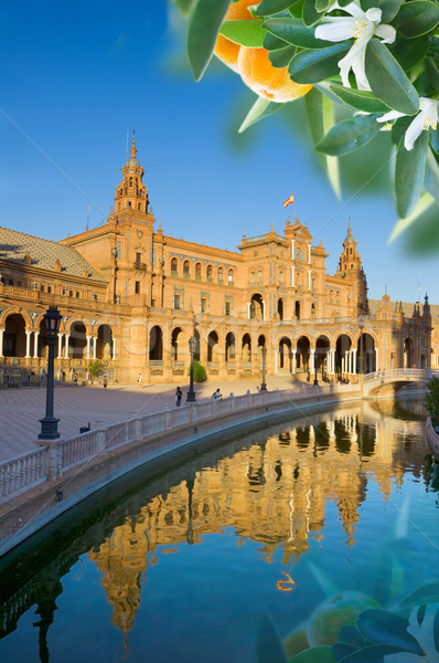 square of Spain in Seville Stock photo © neirfy