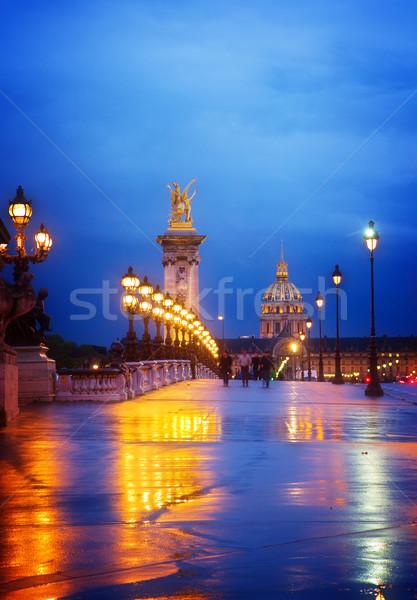 Bridge of Alexandre III ,  Paris, France Stock photo © neirfy