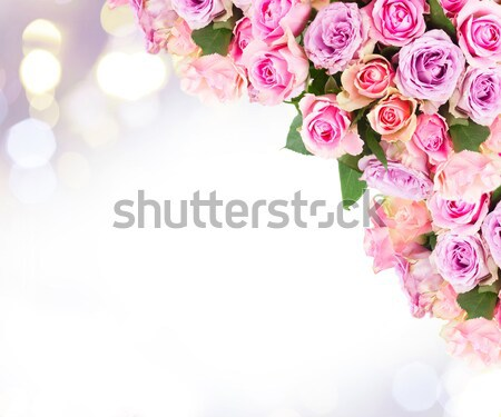 Stock photo: bouquet of fresh roses