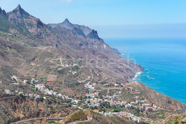 Cliffs of Tenerife island Stock photo © neirfy