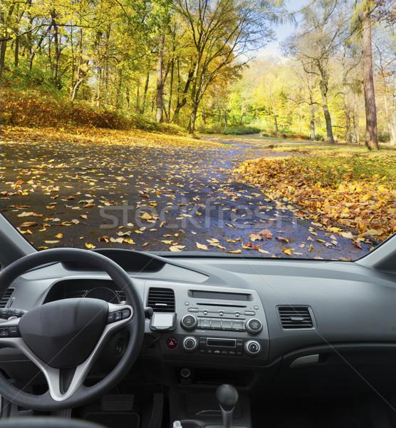 car dashboard with keys Stock photo © neirfy