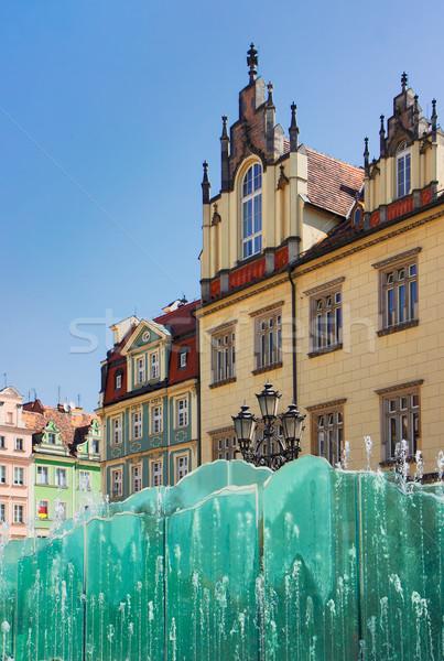 старый город квадратный Польша красивой детали рынке Сток-фото © neirfy