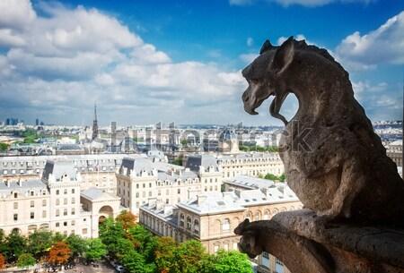 Stock fotó: Párizs · Notre · Dame-katedrális · templom · városkép · fölött · Franciaország