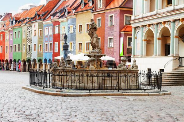 Stock photo: renaissance houses , Poznan, Poland
