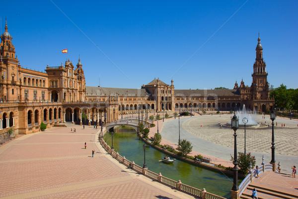 view of Plaza de España, Sevilla, Spain Stock photo © neirfy