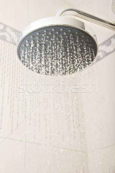 shower head with drops and streams of water Stock photo © neirfy