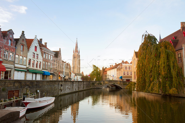 scene of old town, Bruges Stock photo © neirfy