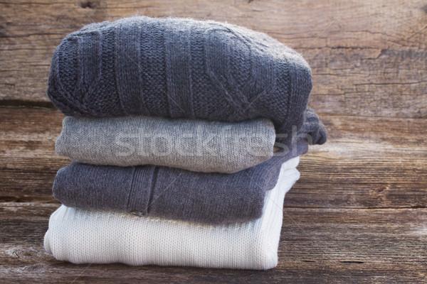 Wełniany ubrania fałdowy moda Zdjęcia stock © neirfy
