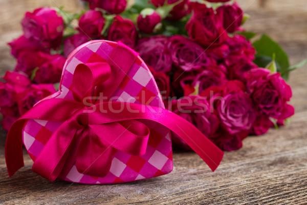 Leylak rengi güller küçük taze Stok fotoğraf © neirfy