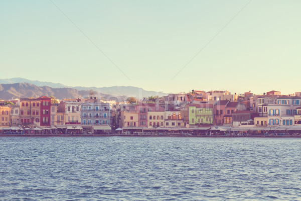 Stock photo: venetian habour of Chania, Crete, Greece