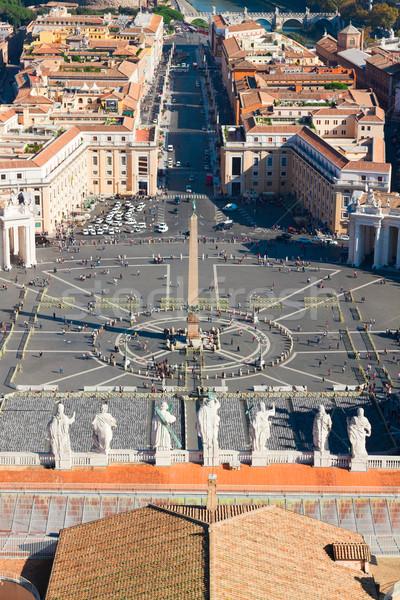 Aziz kare vatikan Roma İtalya üzerinde Stok fotoğraf © neirfy