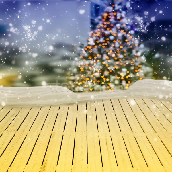 Bois hiver Noël neige Photo stock © neirfy