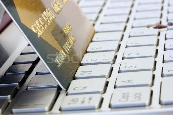 plastic card on computer keyboard Stock photo © neirfy