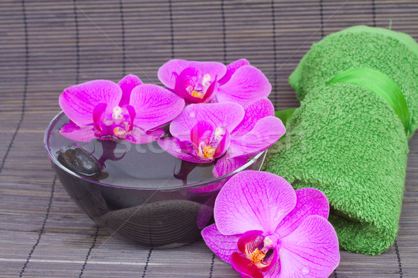spa settings with orchids Stock photo © neirfy