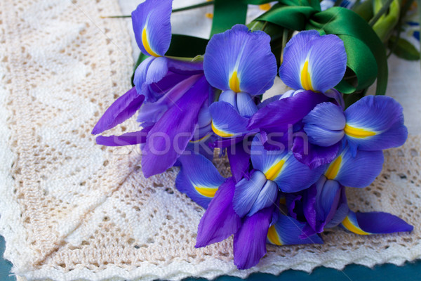 Iris çiçekler tablo çiçek Stok fotoğraf © neirfy