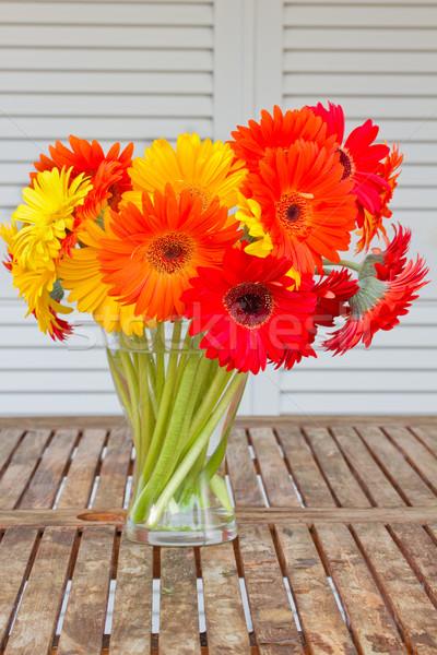 Foto d'archivio: Bouquet · fiori · tavola · giardino · fiore · bellezza